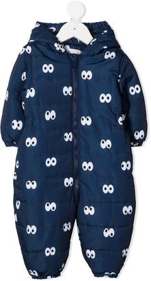 Stella Mccartney Kids Cartoon Eyes padded jumpsuit