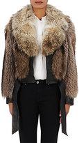 Faith Connexion Women's Fur & Leather Jacket-BEIGE, BLACK, TAN