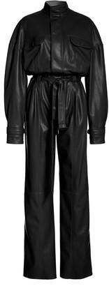 Jonathan Simkhai Katerine Vegan-Leather Utility Jumpsuit