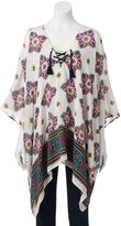 SONOMA Goods for LifeTM Paisley Lace-Up Poncho
