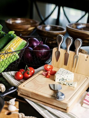 Picnic Time Asiago Cheese Board and Tools Set