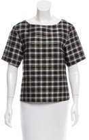 Suno Plaid Short Sleeve Top