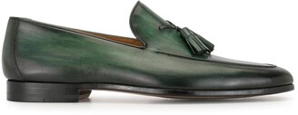 Magnanni Tasseled Leather Loafers