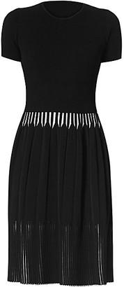 Carolina Herrera Icon Rib-Knit Short-Sleeve Dress