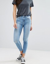 New Look Two Tone Raw Edge Skinny Jeans