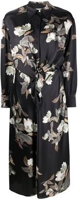Vince Floral Shirt Dress