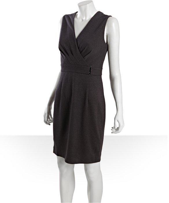 Calvin Klein charcoal knit sleeveless v-neck dress
