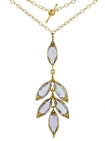 Cathy Waterman Amethyst Leaf Cluster Necklace