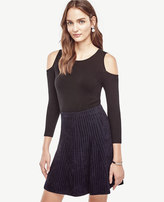 Ann Taylor Petite Silk Cotton Cold Shoulder Sweater