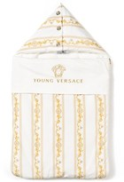 Young Versace White and Gold Logo Print Jersey Nest