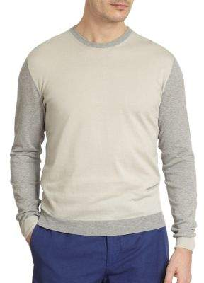 Incotex Two-Tone Crewneck Sweater