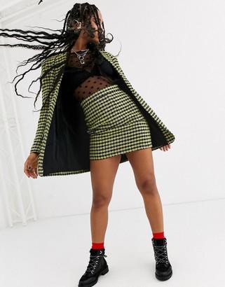 Asos Design DESIGN neon boucle suit skirt-Multi