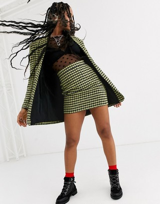 ASOS DESIGN neon boucle suit skirt