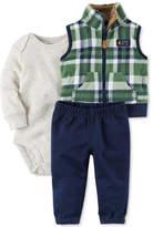 Carter's 3-Pc. Plaid Vest, Bodysuit & Pants Set, Baby Boys (0-24 months)