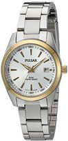 Pulsar Quartz Stainless Steel Dress Watch, Color:Silver-Toned (Model: PJ2010X)