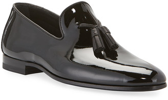 Magnanni Men's Patent Leather Formal Tassel Loafers