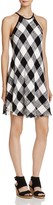Bella Dahl Plaid Frayed Hem Halter Dress