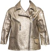 Golden Goose Deluxe Brand Gold Leather Jacket