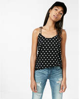 Express polka dot tie shoulder cami