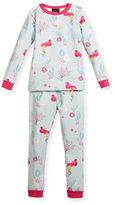 BedHead Jersey Mermaid Pajama Set, Aqua/Fuchsia, Size 2T-8