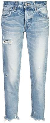 Moussy Vintage cropped ripped jeans