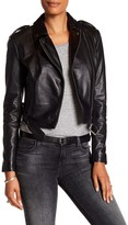 Muu Baa Muubaa Sembri Genuine Leather Cropped Biker Jacket