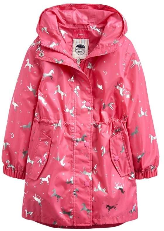 2a120d780 Girls Pink Golightly Longline Rain Jacket - Pink