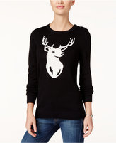 Charter Club Petite Reindeer Graphic Sweater, Only at Macy's
