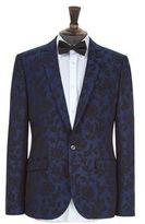 Burton Mens Cobalt Floral Stretch Blazer