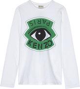 Kenzo Eye print long-sleeved top 4-16 years