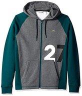 "Lacoste Men's Tennis Lifestylelifestyle ""27"" Hoodie Colorblock Fleece"