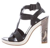 Cole Haan Leather T-Strap Sandals