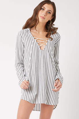 Billabong White Same Story Hooded Cover Up Whtm S
