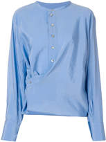 Lemaire gathered button shirt