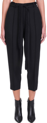 Maison Flaneur Pants In Black Polyester