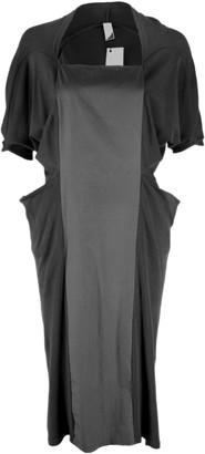 Format WRAP Black Interlock Plain Dress - XS - Black