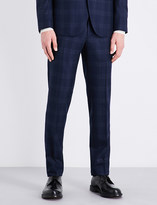 Boglioli Checked slim-fit tapered mid-rise wool trousers