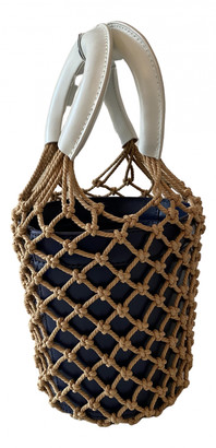 STAUD Moreau Navy Leather Handbags