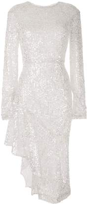 Walk Of Shame sequin-embellished draped dress