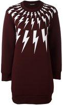 Neil Barrett 'Lightning Bolt' sweatshirt dress