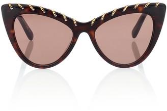 Stella McCartney Falabella Chain cat-eye sunglasses