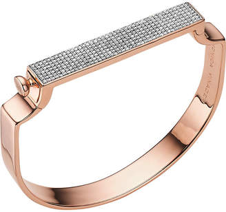 Monica Vinader signature diamond and 18ct rose gold-plated bangle