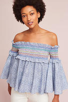 Petersyn Davenport Off-The-Shoulder Smocked Top