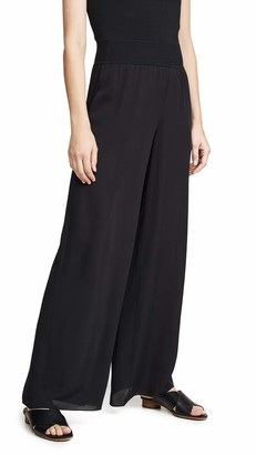 Theory Women's Rib Waist Wide Leg