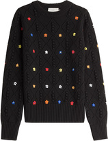 Preen by Thornton Bregazzi Wool Sweater with Floral Motif