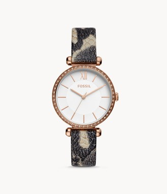 Fossil Tillie Three-Hand Gray Leather Watch jewelry