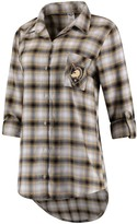 Unbranded Women's Concepts Sport Black/Gold Army Black Knights Forge Rayon Flannel Long Sleeve Button-Up Shirt