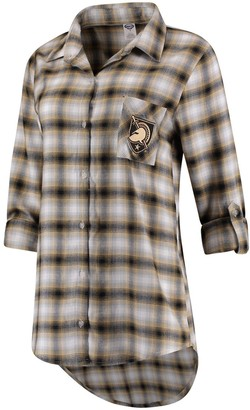 Women's Concepts Sport Black/Gold Army Black Knights Forge Rayon Flannel Long Sleeve Button-Up Shirt