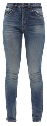 Saint Laurent High-rise Slim-leg Jeans - Blue