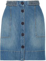 Joie Sorren denim mini skirt